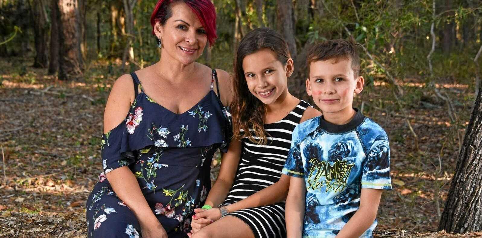 Supranee Radosevich and her children Chloe, 10 and Jayden, 8.