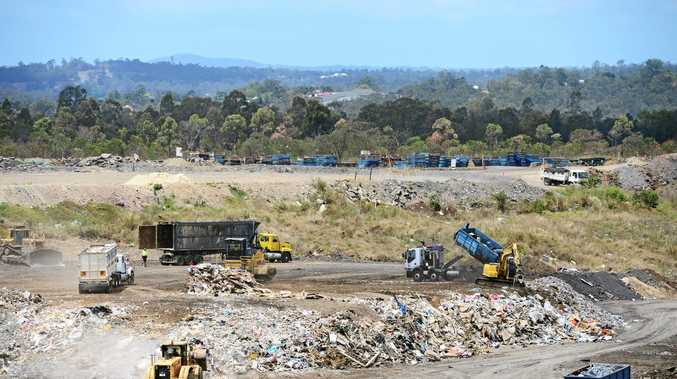 WASTE NOT: Landfill sites, such as this one in Ipswich, would become a source of electricity under a proposal to build a waste-to-energy plant in Ipswich.
