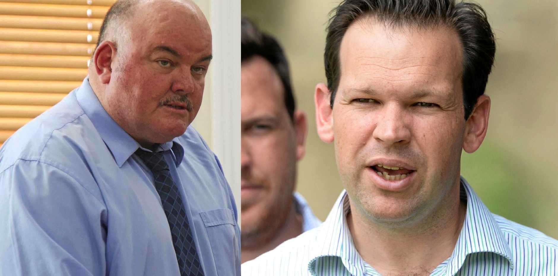 ALP candidate for Burdekin Mike Brunker (left) has been labelled 'naive' and 'misleading' by Minister for Resources and Northern Australia Matt Canavan (right).