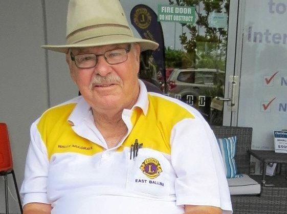LIVING WITH DIABETES: East Ballina Lion Wally Mulgrave is actively involved in the community.