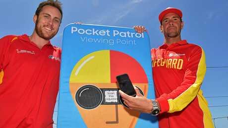 EXCITED: Aaron Purchase, Surf Life Saving Australia Sunshine Coast regional manager (left).