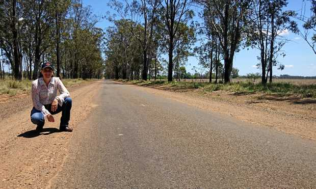 Nanango MP Deb Frecklington on Byee Road.