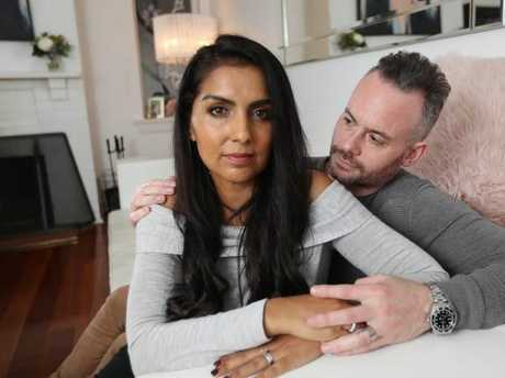 My husband has been my rock through this treatment. Picture: Alex Coppel, News Corp.