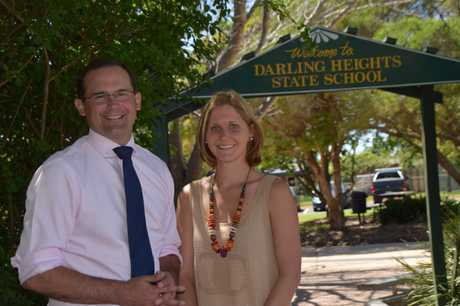 Toowoomba South MP David Janetzki with Cate MacAvoy