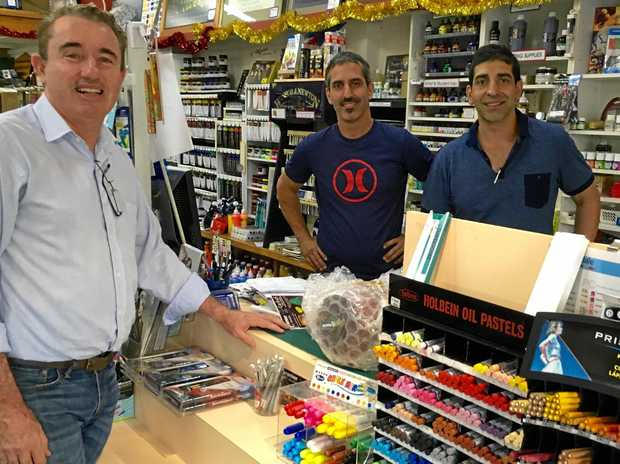 LOCALLY: Kevin Hogan supports the local businesses in the lead up to Christmas at Premier Art.