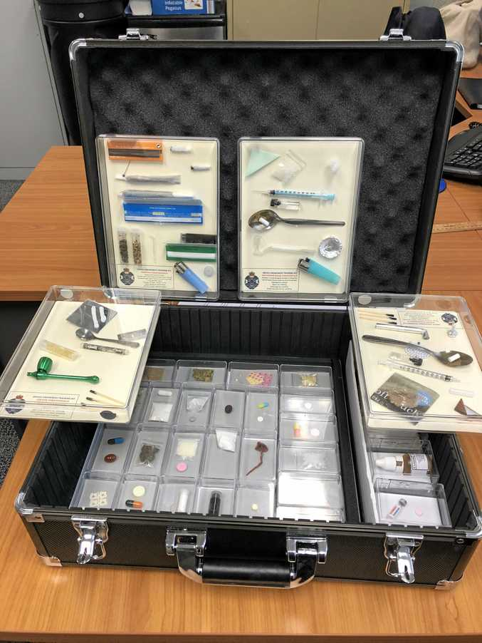 A kit that has replica illicit drugs like methamphetamines, cannabis, speed and ecstasy is doing the rounds at Fraser Coast schools ahead of Schoolies celebrations.