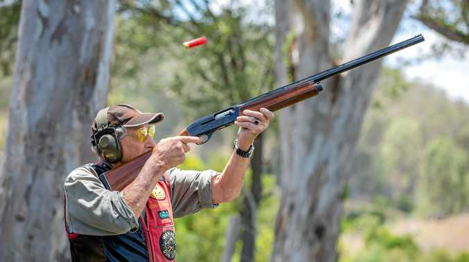SHOTS FIRED: Gympie sporting shooter Curly Lewis.