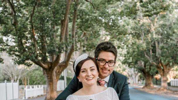 BEAUTIFUL COUPLE: Andrea Frost and Andrew Braithwaite are proud to have a 100% local Toowoomba wedding.