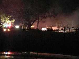 Man taken to hospital following fire