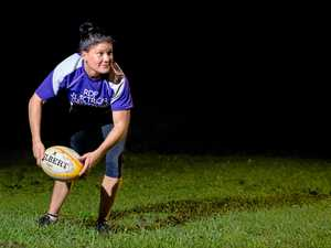 KEEN: Rugby Union Gympie Hammers Ladies' Bec Briggs said a women's rugby league team would be welcomed by local players.