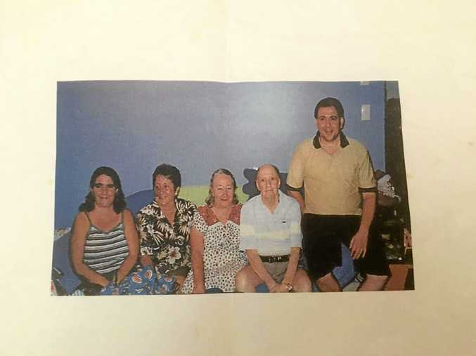 Bruce Saunders (right) with his father Noel, mum Nancy and niece's mum Helen and sister Sue.