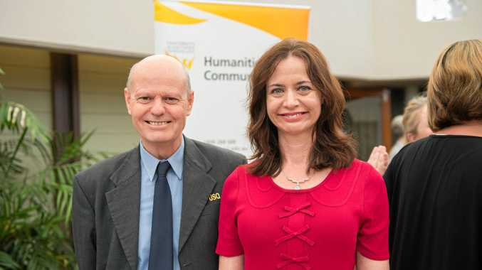 Professor Rhod McNeill and Dr Caryn Coatney are all smiles.