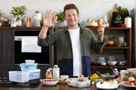 Celebrity chef Jamie Oliver bases his latest cookbook and TV series on five ingredients.