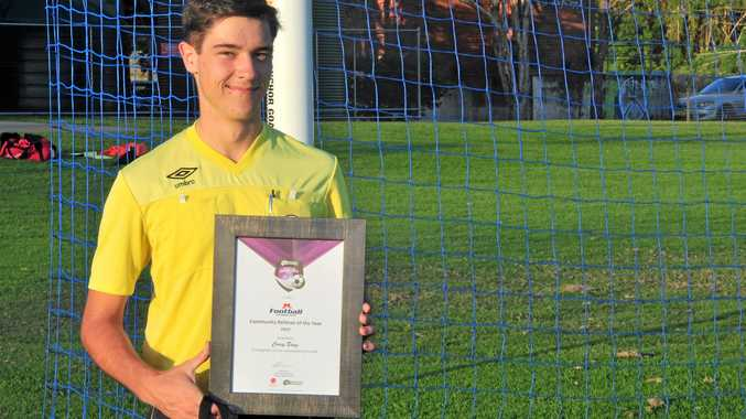 COREY BOAG: Far North Coast soccer referee of the year in the Newcastle Permanent Community Awards.
