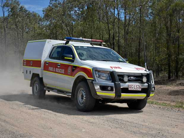 EMERGENCY: Fire services arrive at the property on Ross Rd, Weranga, the morning after the fire.