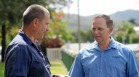 Acting mayor Tony Williams and CQMSC president Craig Jervis.
