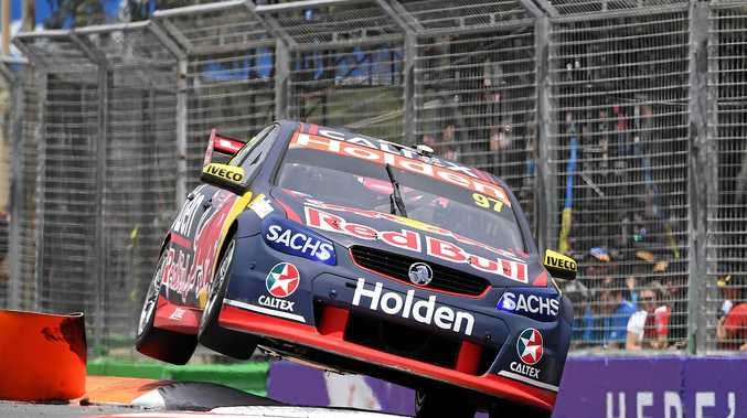 FAST AND FURIOUS: V8 Supercars driver Shane van Gisbergen from Red Bull Holden Racing Team drives through a chicane during a practice session ahead of the Gold Coast 600 Supercars event at Surfers Paradise in October. Rockhampton Regional Council is hoping to bring a similar event to the region.