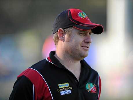 AFL - Hervey Bay Bombers and Bundaberg Bulldogs - Bombers' coach, Troy Ignatenko.  Photo: Valerie Horton / Fraser Coast Chronicle