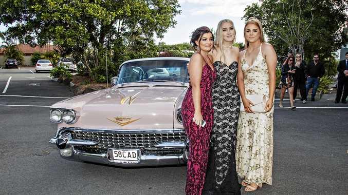 Evy McWilliam, Anne-Louise Leonard and Hailey Kellett look stunning at their school formal.