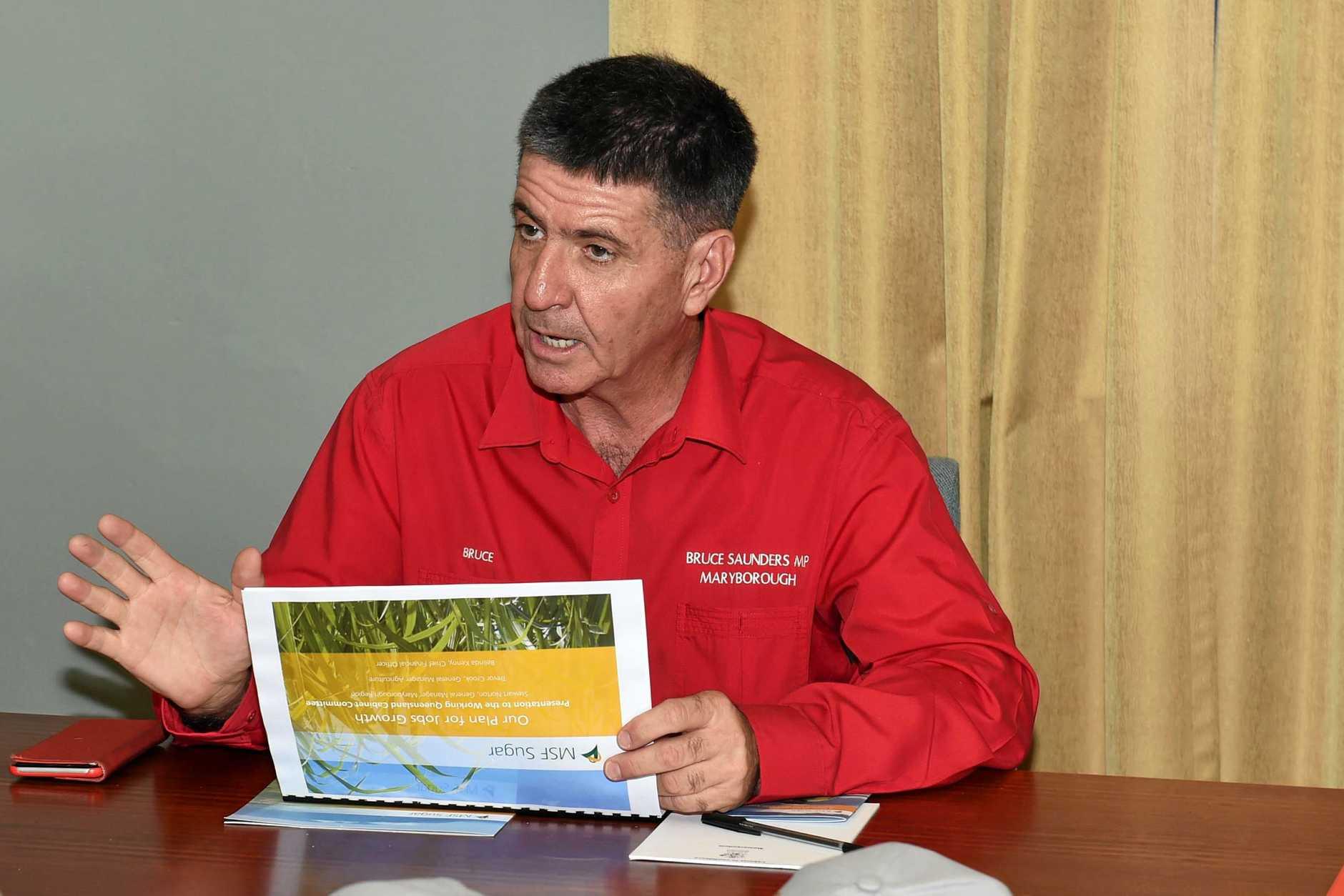 Member for Maryborough Bruce Saunders.
