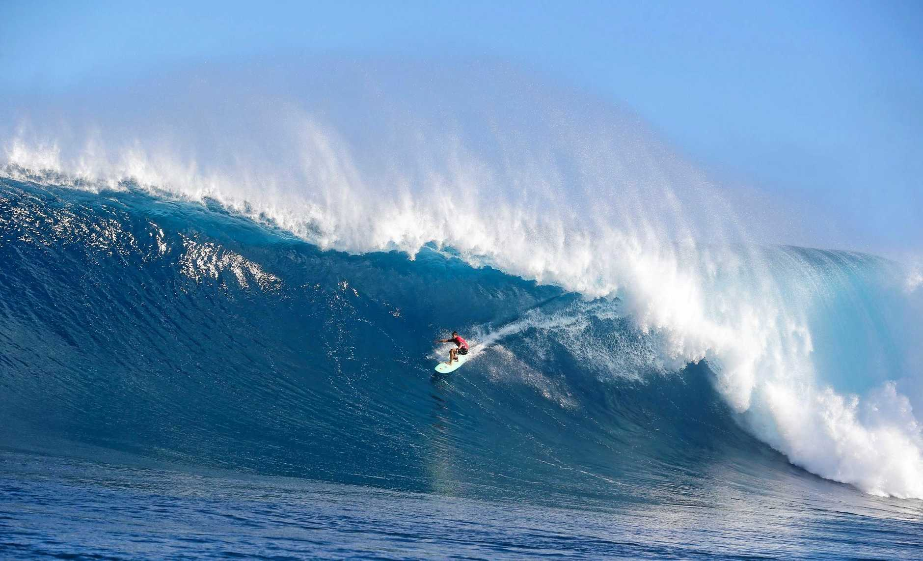 LOCAL KNOWLEDGE: Hawaii's Ian Walsh takes out his first Big Wave World Tour event at his home break of Pe'ahi, Maui.