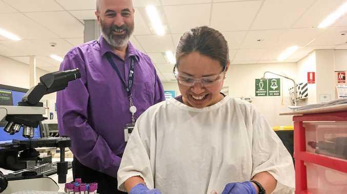 BLOOD WORK: Grafton Hospital pathology laboratory manager Charles Chegwidden and his team celebrated International Pathology Day yesterday.