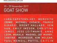 GOAT SHOW features more than 50 artworks by 20 Lone Goat Alumni artists from the last 12 months, and also artists new to the gallery for 2018.