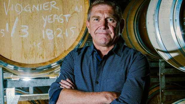 Symphony Hill winemaker Mike Hayes, 53, Queensland's first winemaker of the year.