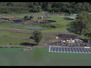 Sewage Solar farm installation