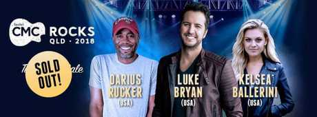 Darius Rucker, Luke Bryan and Kelsea Ballerini are a few of the headline acts set for CMC Rocks 2018.