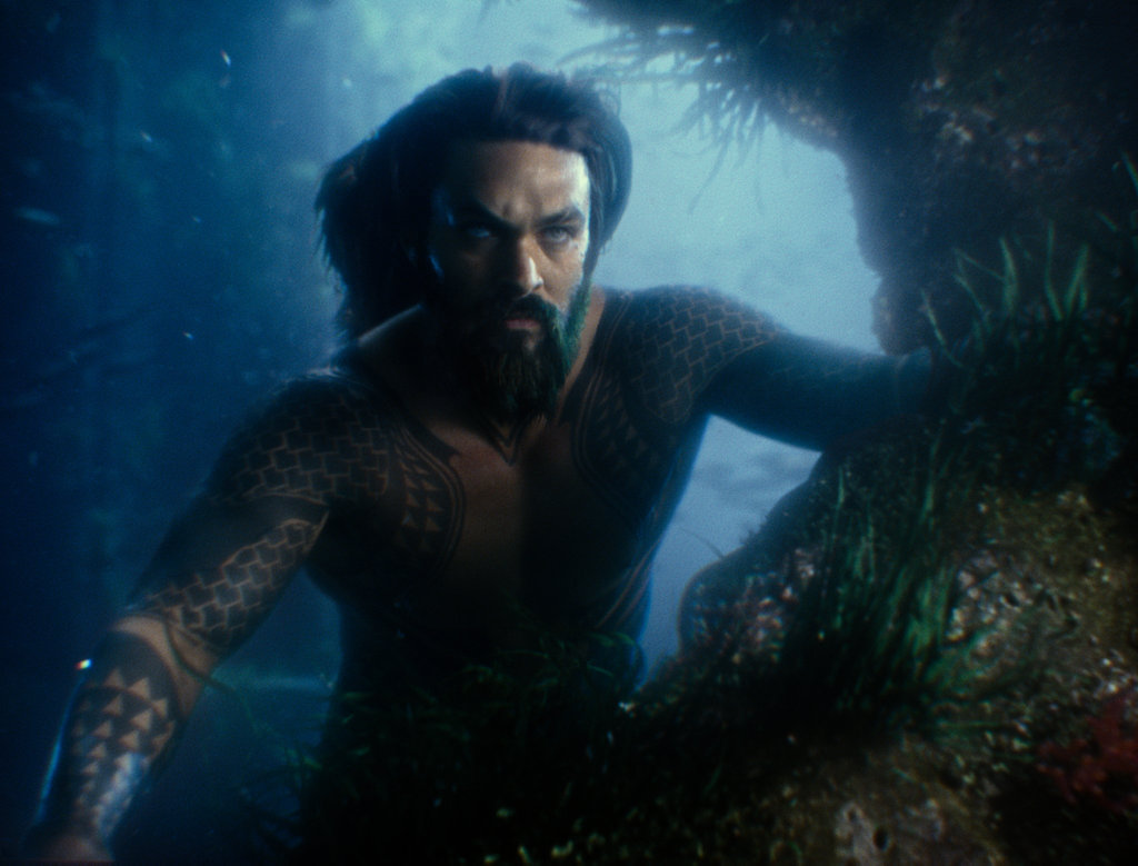 Jason Momoa as Aquaman in a scene from Justice League.