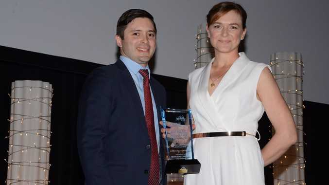 The Australian Airports Association deputy chief executive officer Nicholas Lane and Toowoomba Wellcamp Airport general manager Sarah Hales at the 2017 AAA National Airport Industry Awards.