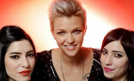 Happier times? Ruby Rose and The Veronicas in 2010.