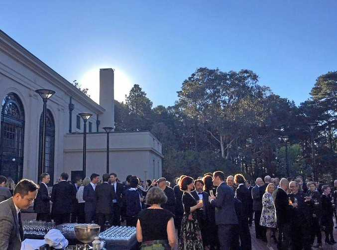 Cocktails by the lawns of the Albert Hall in Canberra for the 2017 National Architecture Awards.
