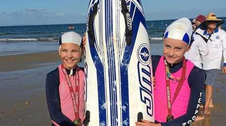 GOLDEN PERFORMANCE: Edie Hemson and Paige Jones win the board rescue.