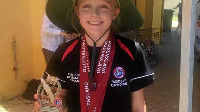 Paige Jones won the under-11 age champion at the North Australian Championships in Mackay.