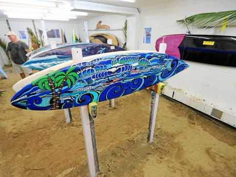 Some of the art on display at the Surf Art Expo, held October 28 and 29.