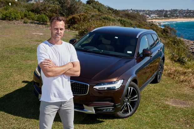 Volvo ambassador Matt Shirvington with his Volvo V90 Cross Country wagon.
