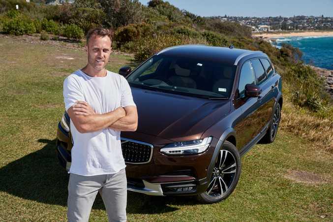 Volvo ambassador Matt Shirvington with his Volvo V90 Cross Country wagon.