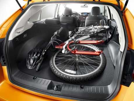Inside the 2012 Subaru XV sub-compact SUV wagon.