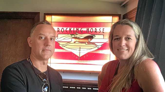 ROCKING HORSE: Co-owner Taryn McGregor (on right) with engineer Paul Pilsnenicks.