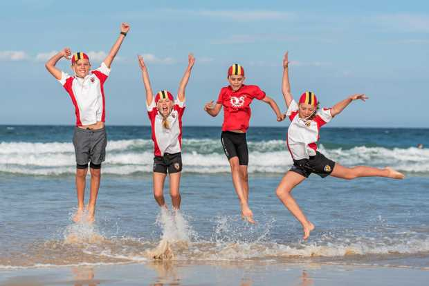 EXCITED: Sunshine Beach nippers are jumping for joy over the 10 Grand in the Hand event.