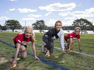 BANANA BOOST: Sally Pearson is stepping up to help out Bundaberg's little athletes, as is Coles, which will donate bananas.