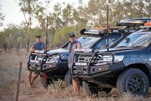 OUTBACK ADVENTURE: All4Adventure TV show host Jason Andrews with his sidekick Simon, take on Australia.