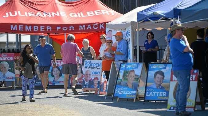 Pre poll at the Mackay Showgrounds.