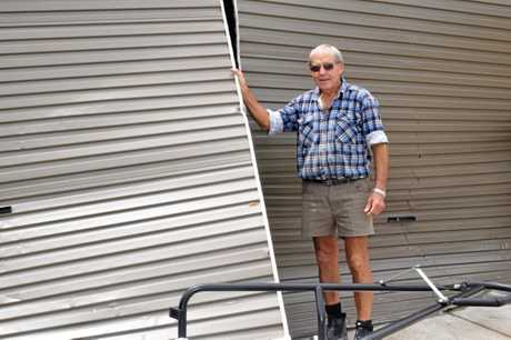 DAMAGED: The home of Gary and Wendy Mayne was devastated in Monday night's severe weather.