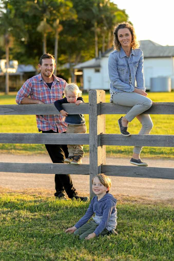 A Dollar a Week founder and CEO Mick Hase, of Coolangatta, with his family.