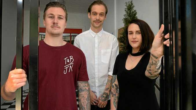 BIG MOVE: Cohen Wassell, Evan Treacy and Haylee Cotter will be opening a combined hairdresser and tattoo studio combining the talents of Thieves and Beggars with The Arrows End Tattoo.