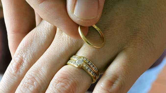 MARRIAGE: Rings are commonly exchanged as a symbol of commitment during a wedding ceremony.