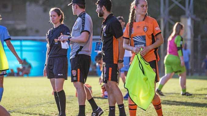 Toowoomba's Abbey Lloyd has had three starts with Brisbane Roar so far this season.